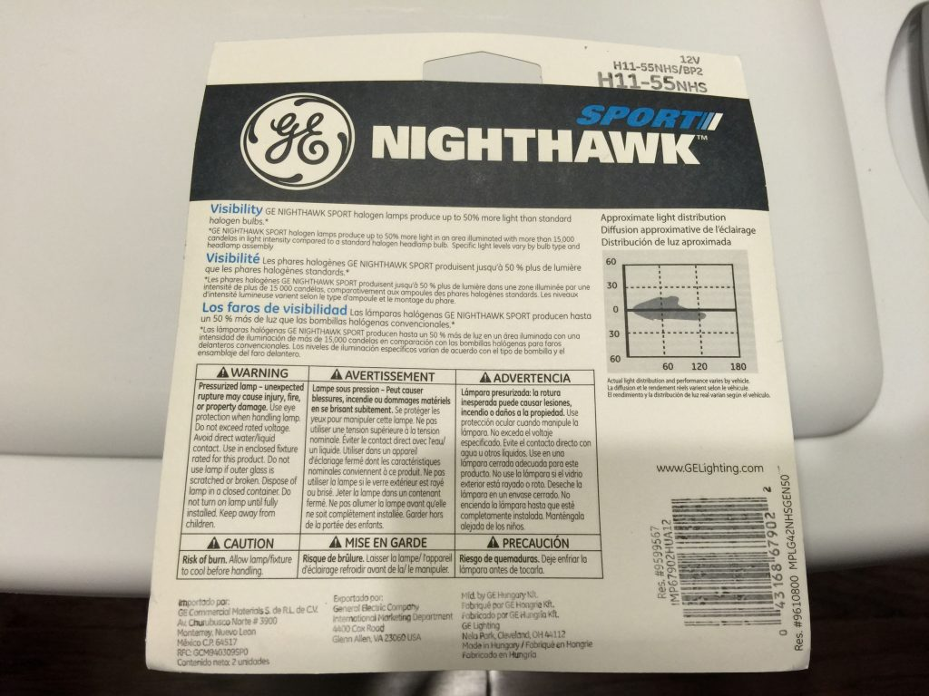 GE Nighthawk Sport Headlights 12b