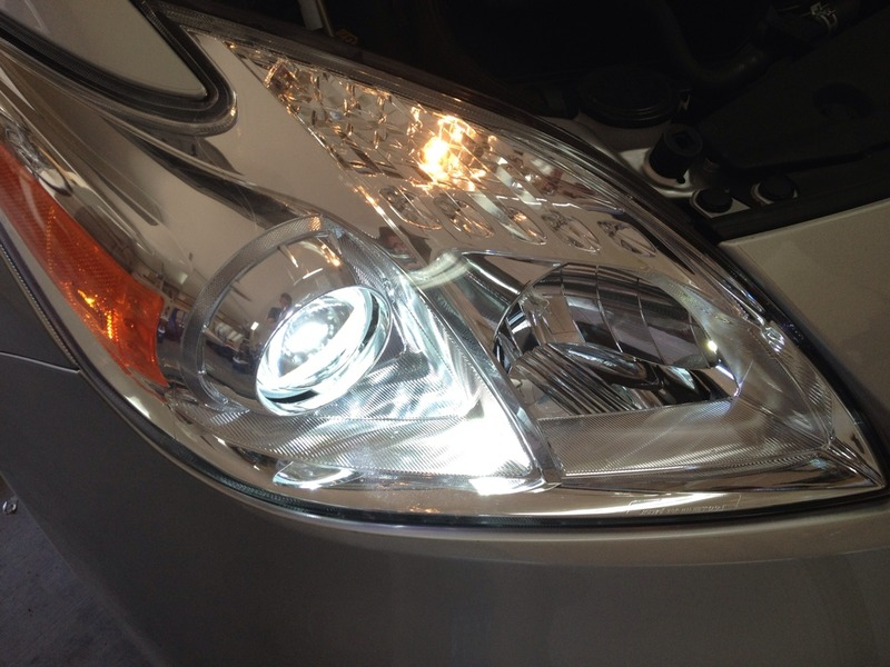 prius headlight after hids