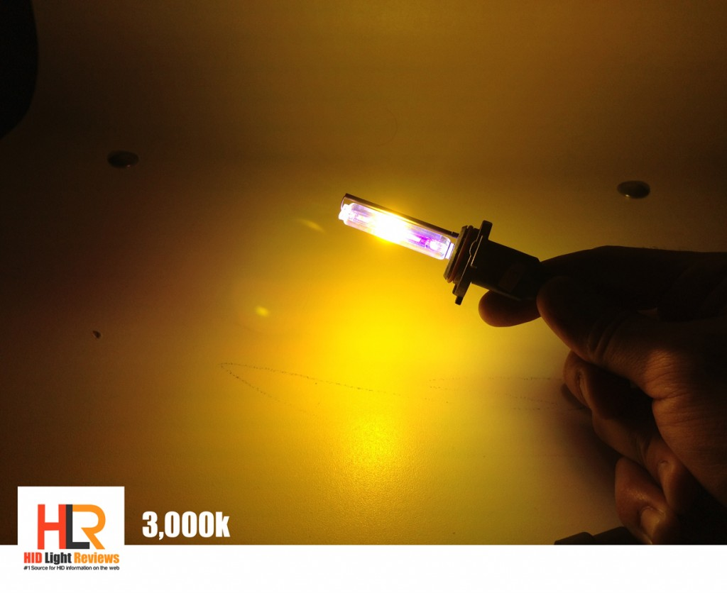 3000k hid bulb color