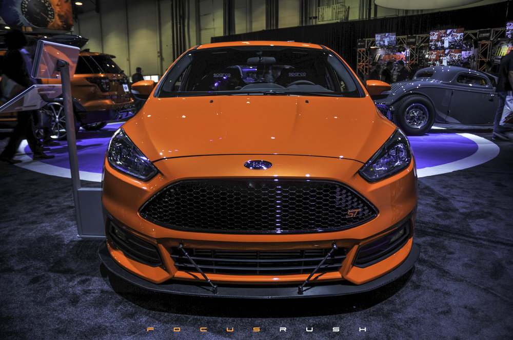 Ultra Orange Ford Focus ST from CJ Pony Parts