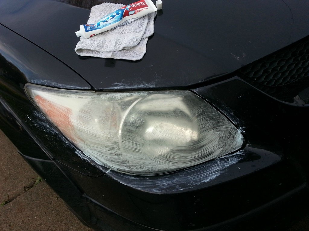 how to clean your headlights
