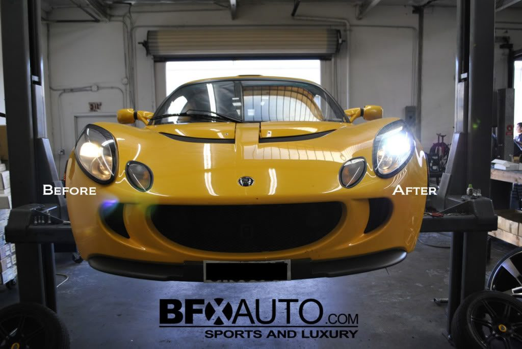 lotus exige before hids and after hids