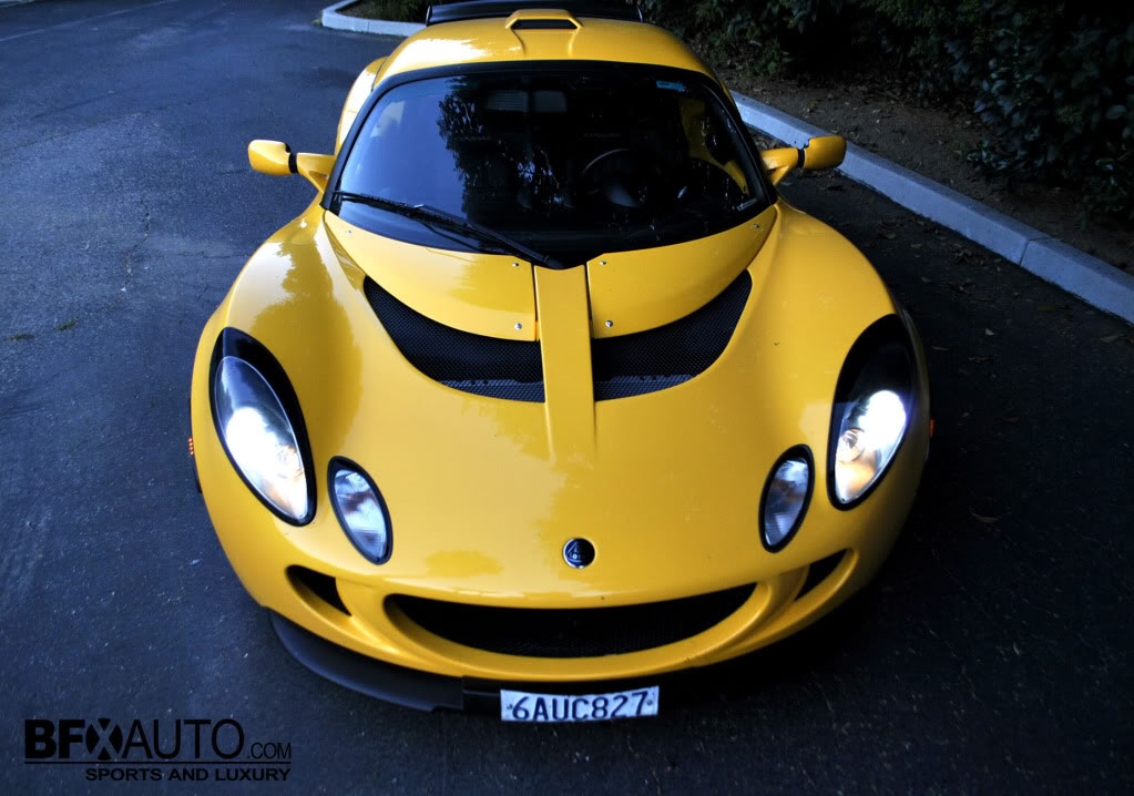 yellow lotus exige with hid lights